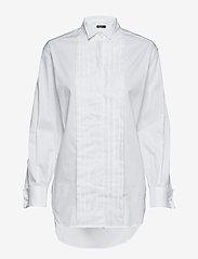 Tiger of Sweden - KOLV CO - long-sleeved shirts - bright white - 0