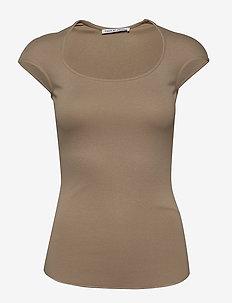 GLABRA - t-shirts - pale mocha