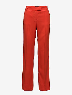 NYX - straight leg trousers - flame red