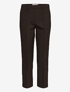 BARI - pantalons droits - dark chokolate