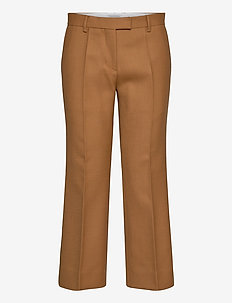 VERBENA - straight leg trousers - dark honey