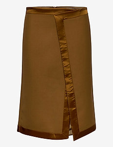 NAHLA - midi skirts - dark honey