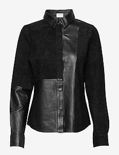 FUMANA L - pitkähihaiset paidat - black