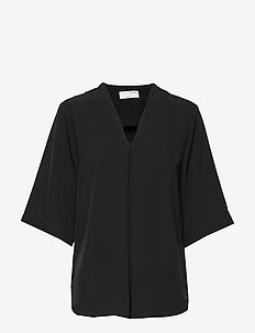 AKASIA - short-sleeved blouses - black