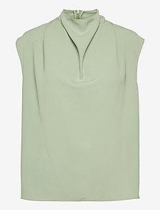VOLON - Ärmellose blusen - pale jade