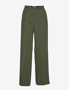 SILENE - vide bukser - utility green