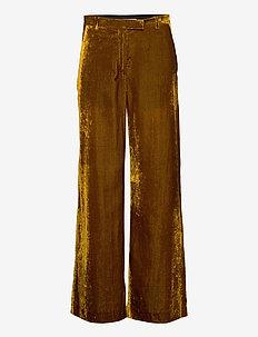 SILENE - rette bukser - palm green