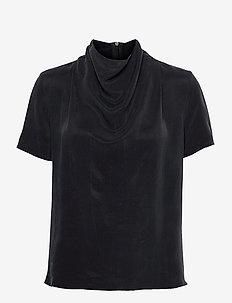 VOLONA - blouses met korte mouwen - black