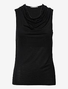 JELA - ermeløse topper - black