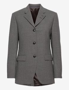 KENNA - enkeltspent blazer - dark grey mel