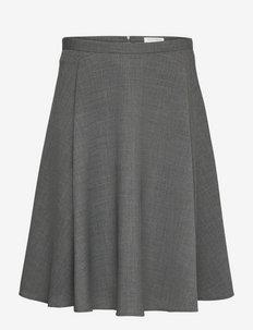 CASSIS - midi skirts - dark grey mel