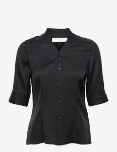 INEZ - lyhythihaiset paidat - black