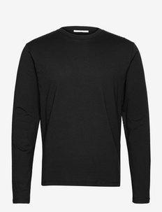 DILLAN LS - basic t-shirts - black