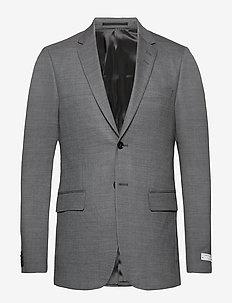 JONN - enkeltkneppede dresser - light grey melange