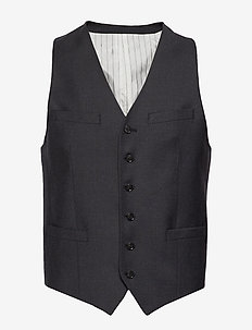 WOLMER - waistcoats - dark grey mel