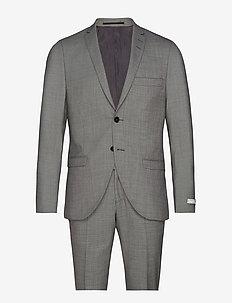 S.JILE - single breasted suits - light grey melange