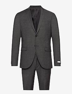 S.JULES - single breasted suits - dark grey mel
