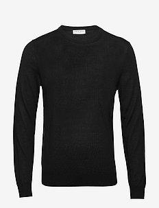 NICHOLS - basic gebreide truien - black