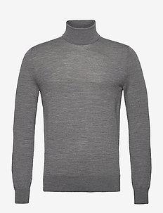 NEVILE - basisstrikkeplagg - med grey mel