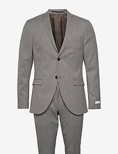 S.JULES - single breasted suits - light grey melange