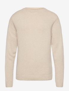 CASEN - basic gebreide truien - twill beige