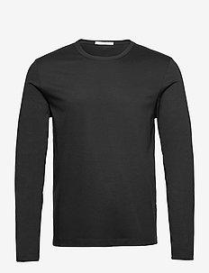 OLAF LS - basis-t-skjorter - black