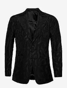 GIAVIO - blazers met enkele rij knopen - black
