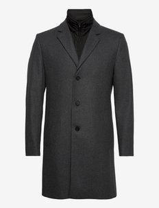 NETLEY - wełniane płaszcze - med grey mel