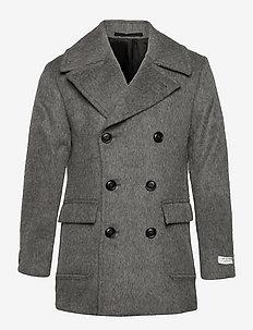 GOTLAND - manteaux de laine - med grey mel