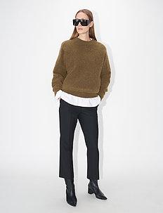 BARI W - vide bukser - black