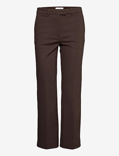 NOORA 3 - straight leg trousers - dusty brown
