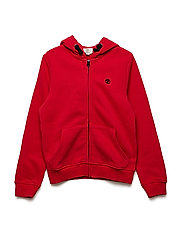 FLEECE CARDIGAN - RED