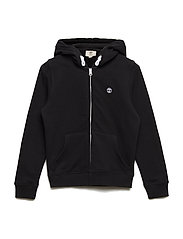 HOODED CARDIGAN - BLACK
