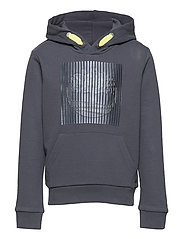 HOODED SWEATSHIRT - MEDIUM GREY