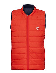 REVERSIBLE PUFFER JACKET - ORANGE
