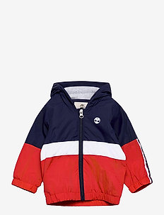HOODED WINDBREAKER - windjacken - orange