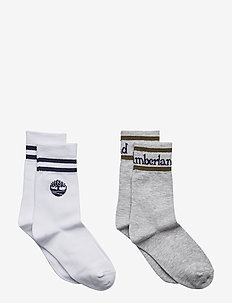 SOCKS(*2) - WHITE  GREY