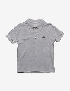 SHORT SLEEVE POLO - CHINE GREY