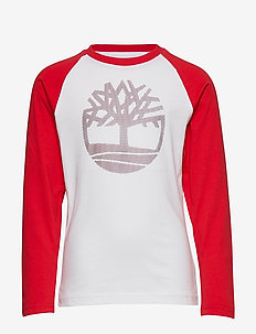 LONG SLEEVE T-SHIRT - WHITE  RED