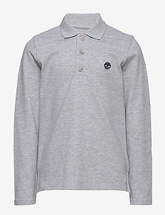 LONG SLEEVE POLO - CHINE GREY