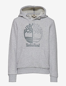 HOODED SWEATSHIRT - CHINE GREY
