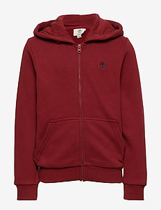 HOODED CARDIGAN - DARK RED