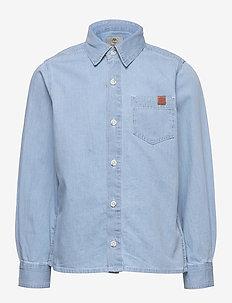 LONG SLEEVED DENIM SHIRT - skjorter - bleach pousse