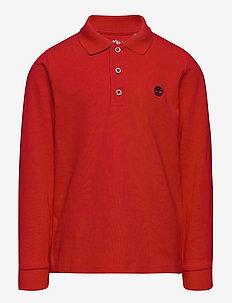 LONG SLEEVE POLO - poloskjorter - bright red