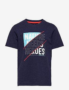 SHORT SLEEVES TEE-SHIRT - short-sleeved t-shirts - navy