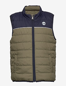 PUFFER JACKET SLEEVELESS - vests - green