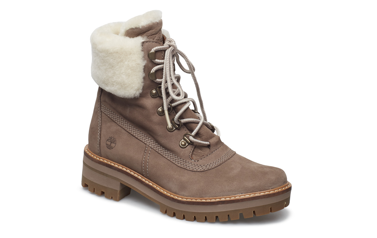 Timberland COURMAYR 6IN SHEARLING - TAUPE GRAY