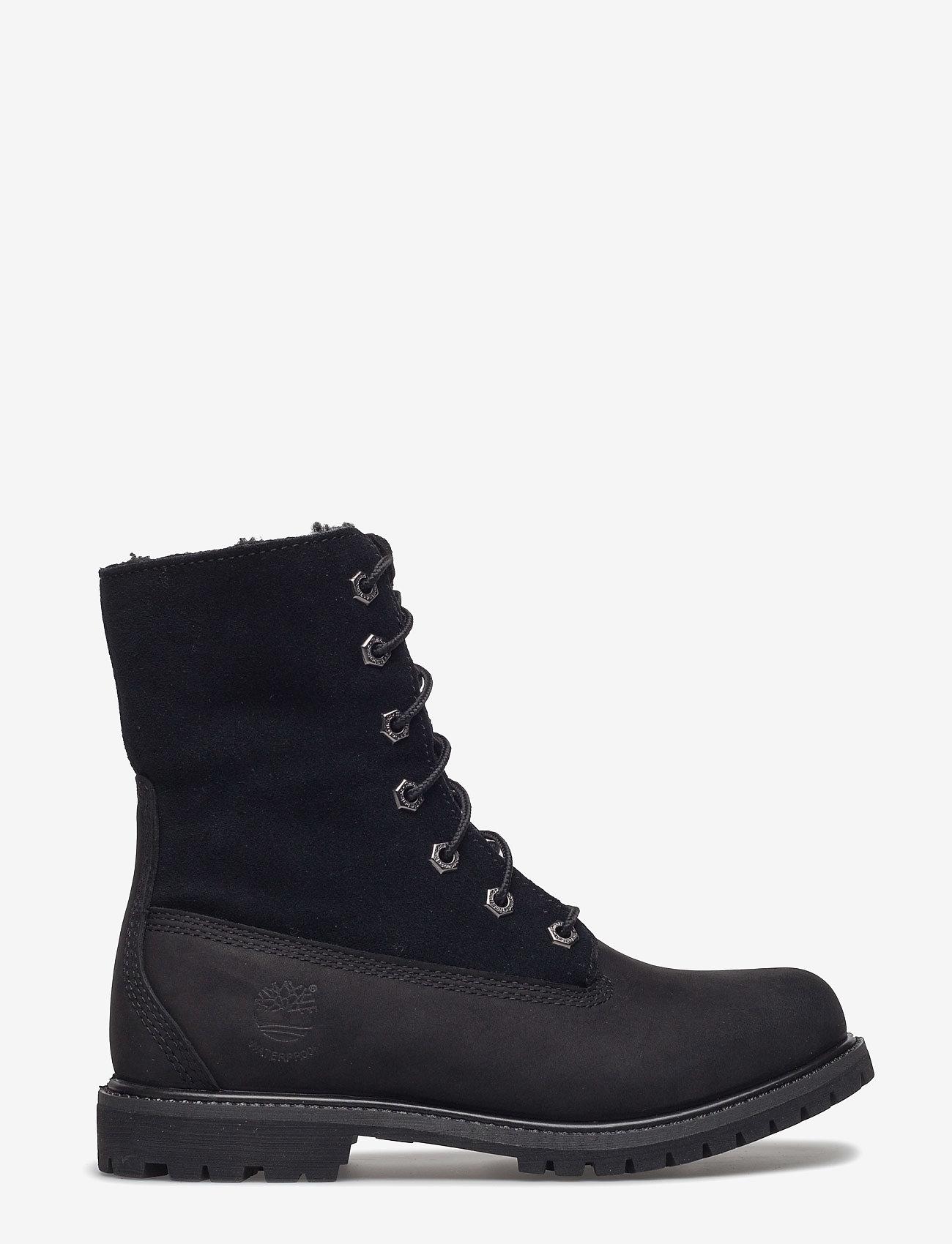 Timberland - Authentics Teddy Fleece WP Fold-Down - flade ankelstøvler - black - 0