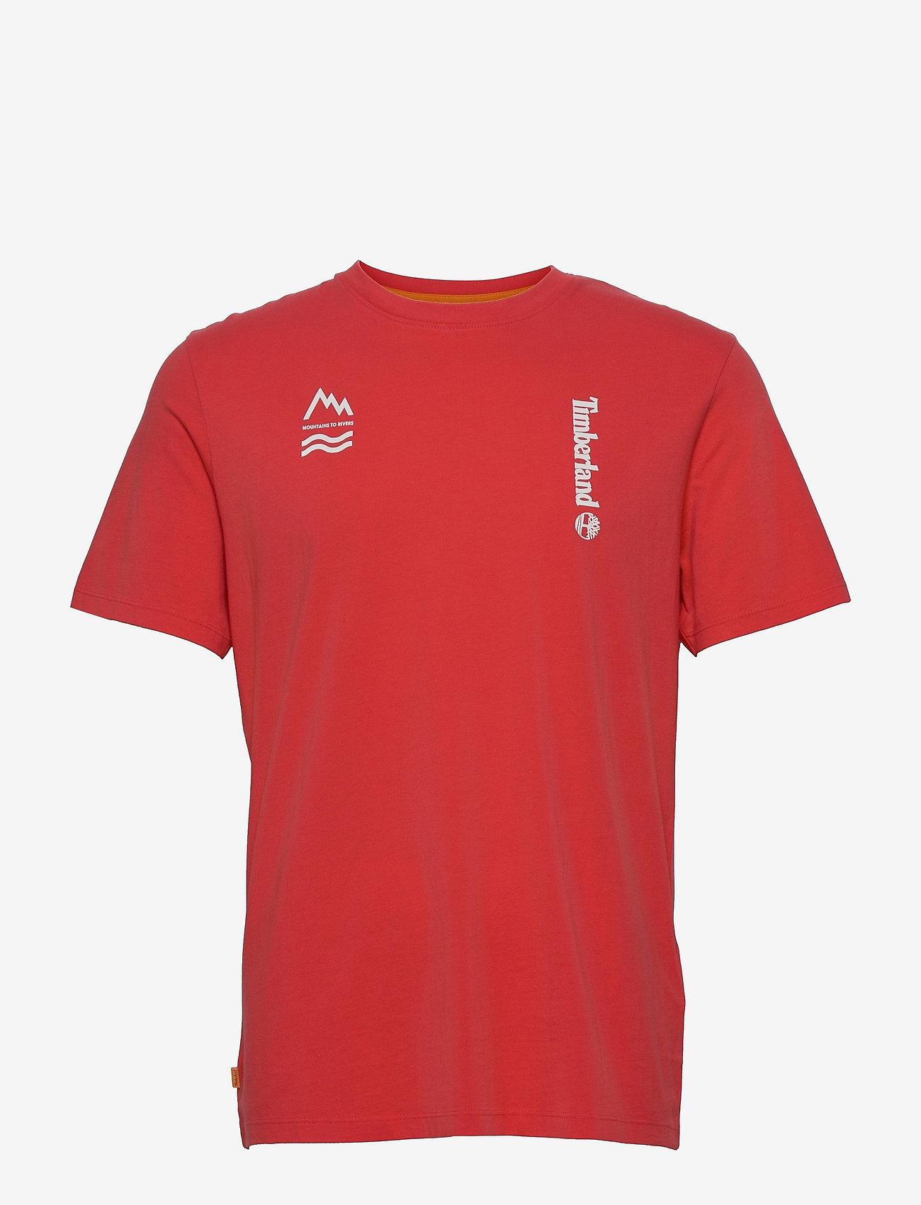 Timberland - YC SS Back Box T relx - t-shirts basiques - cayenne - 0
