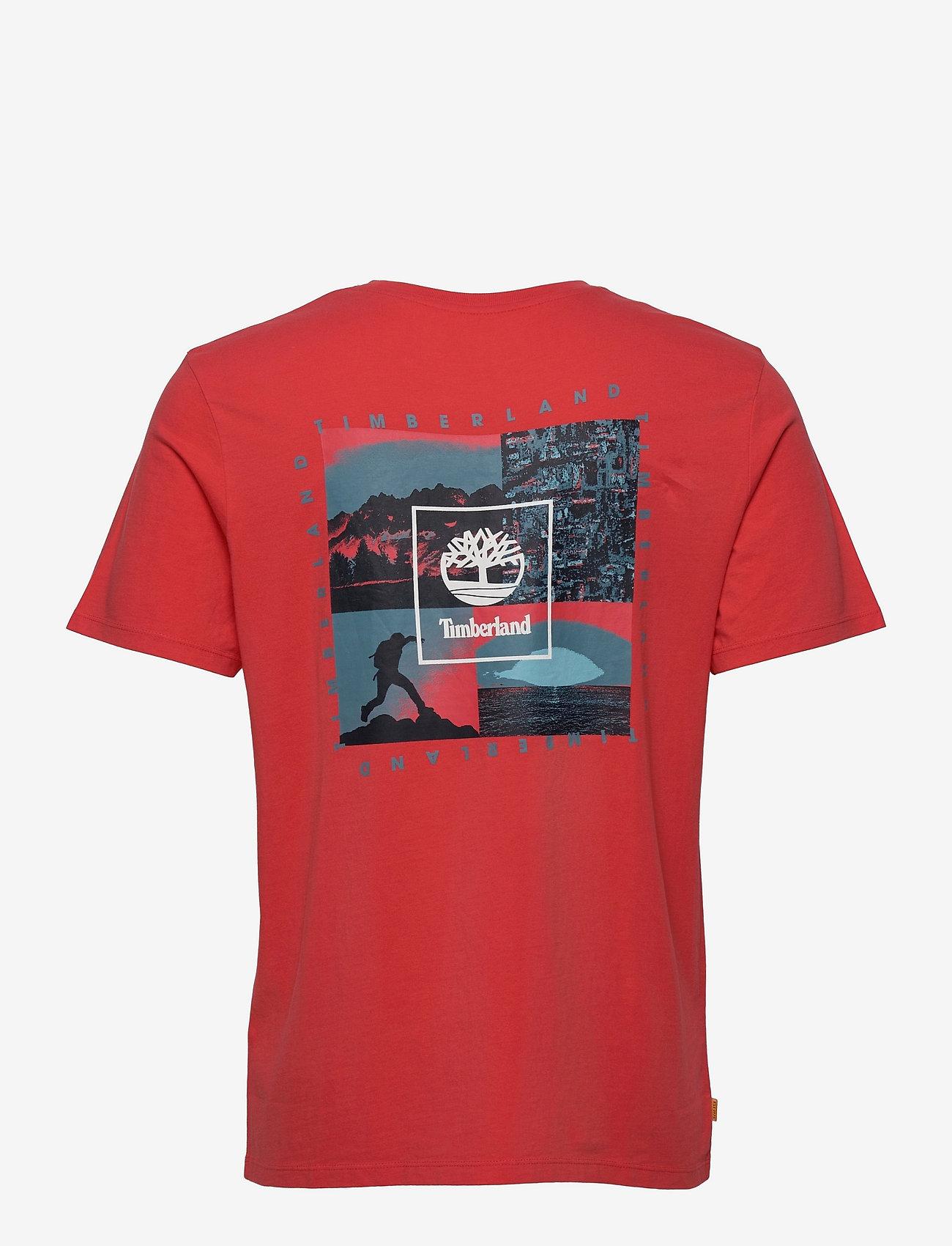 Timberland - YC SS Back Box T relx - t-shirts basiques - cayenne - 1